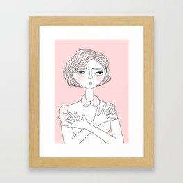 Wondering Lady Framed Art Print