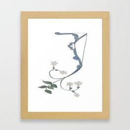 J is for Jasmine Framed Art Print