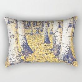 Golden Floor Rectangular Pillow