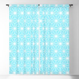 Ice Blue Geometric Isosceles Triangle Pattern Blackout Curtain