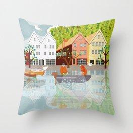 Norway 1 Throw Pillow