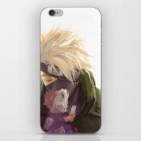 kakashi iPhone & iPod Skins featuring Ninja pup by Aleksandra Chabros aka Adelaida
