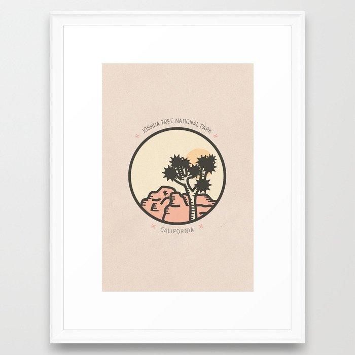 Icons: Joshua Tree One Framed Art Print