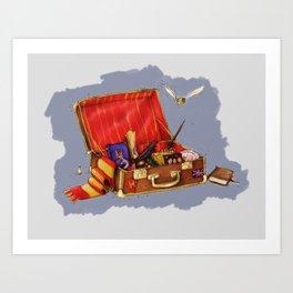 Magic Suitcase Art Print
