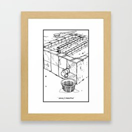 Coffee Process - Washing and Fermentation Framed Art Print
