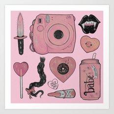 GIRLY STUFF Art Print