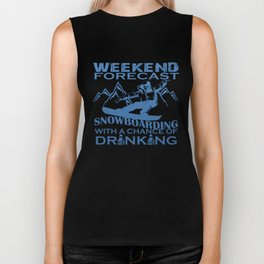 WEEKEND FORECAST SNOWBOARDING Biker Tank