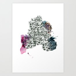 Fat Flower/Triangle Art Print