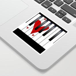 Love Piano Sticker