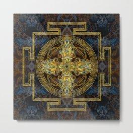 Double Dorje - Vishvavajra  -Vajra Metal Print