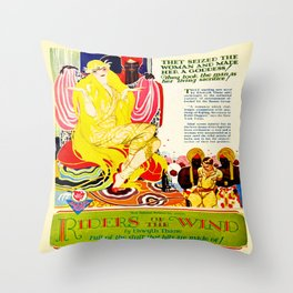 Vintage 1920's Film Advert Throw Pillow
