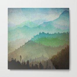Watercolor Hills Metal Print