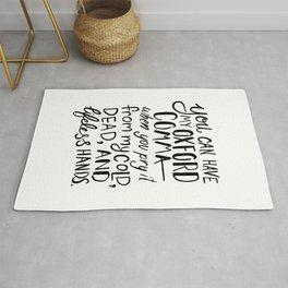 My Beloved Oxford Comma - Black Lettering Rug