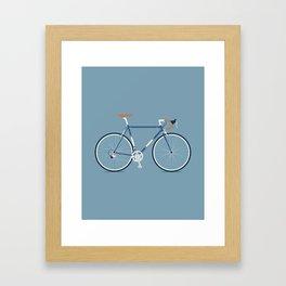 My Bike Dark Blue Framed Art Print