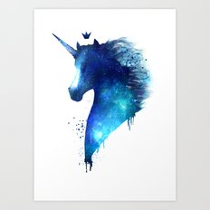 cosmic Unicorn Art Print