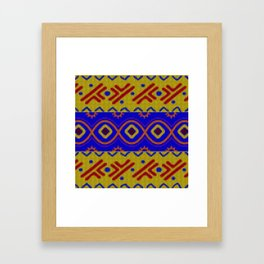 Ethnic African Knitted style design Framed Art Print