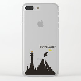 Lord of the Ring Intructions Clear iPhone Case