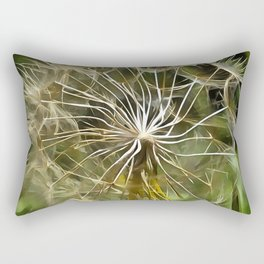 Tragopogon Wildflower Salsify Rectangular Pillow