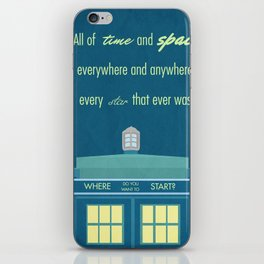 Doctor Who TARDIS iPhone Skin