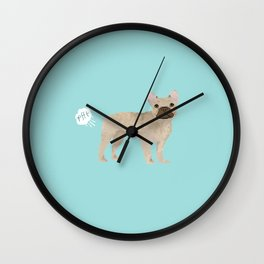 French Bulldog funny fart dog breed gifts frenchie must haves Wall Clock