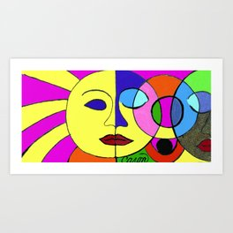 Sunshine and Moon Art Print
