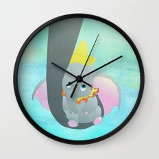 dumbo and his mom Wall Clock