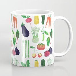Farmers Market Produce Pattern Coffee Mug