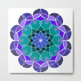 Ornamental round geometric pattern in aztec style Metal Print