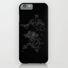 black and white world map low poly illustration Slim Case iPhone 6s