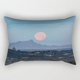 Moon Over Tucson - Full Moon Sets Early Morning in Tucson Arizona Rectangular Pillow