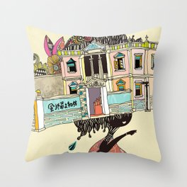 THE GIRL'S HAT Throw Pillow