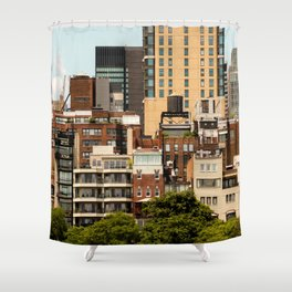 New York architecture Shower Curtain