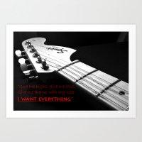 """""""Kaleidoscope"""" The Script Lyrics with Guitar Art Print"""