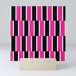 Shifted Illusions - Black and Pink Mini Art Print