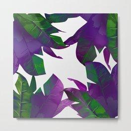 Tropical Palm Purple Metal Print