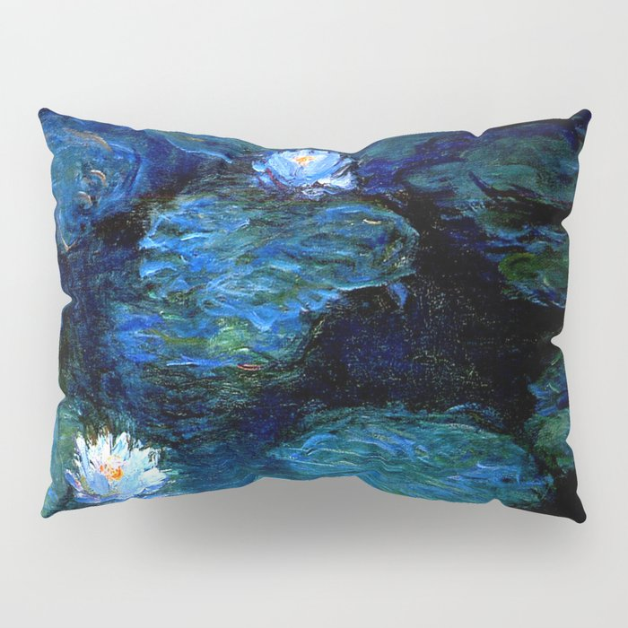 monet water lilies 1899 Blue teal Pillow Sham