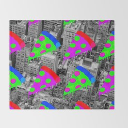 Pizza Invasion NYC Throw Blanket