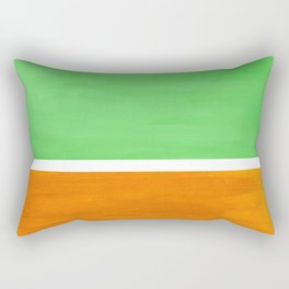 Pastel Mint Green Yellow Ochre Rothko Minimalist Mid Century Abstract Color Field Squares Rectangular Pillow