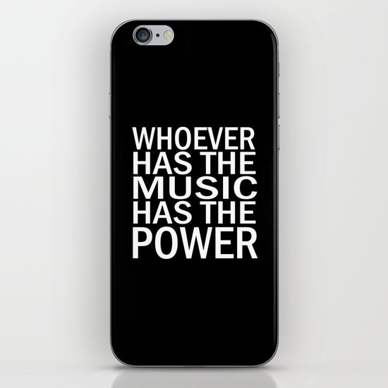 The Power of Music iPhone & iPod Skin