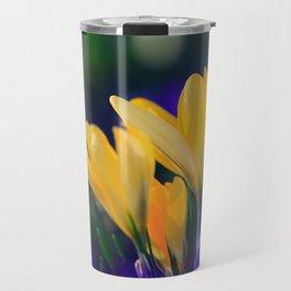 Yellow Crocuses in Spring Travel Mug