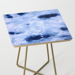Marbled Water Blue Side Table