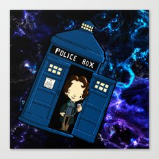 Tardis in space Doctor Who 8 Canvas Print