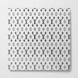 Sup LV White Metal Print