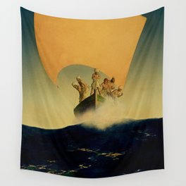 """""""The Pirate Ship"""" by Maxfield Parrish Wall Tapestry"""