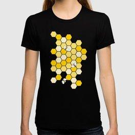 Honey Bee Pattern T-shirt