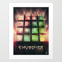 chvrches Art Prints featuring Chvrches - 80's Style by Derek Brown