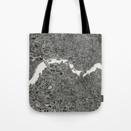 London map drawing ink pen Tote Bag