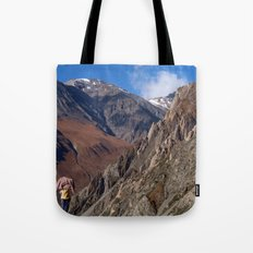 Enjoying the Scenery Yak Kharka to Thorung Phedi Tote Bag