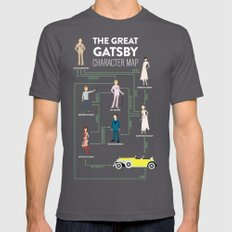 The Great Gatsby Character Map Asphalt MEDIUM Mens Fitted Tee