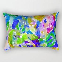 Watercolor Splatter Rectangular Pillow